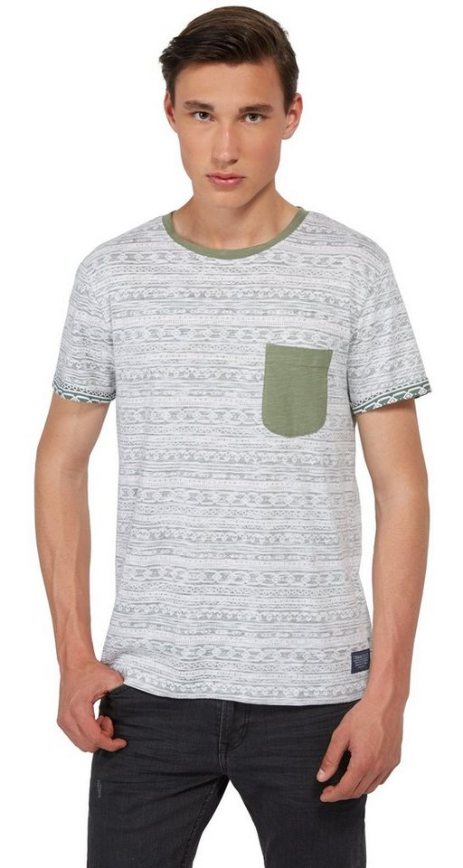 - NU 21% KORTING TOM TAILOR DENIM T - shirt T - shirt met print aan de binnenkant