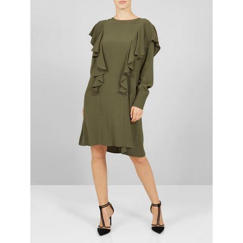 Y.A.S Volant jurk groen