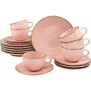 guido maria kretschmer homeliving koffieservies 'naturals' (18-delig) roze