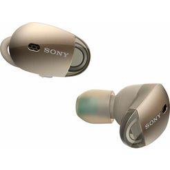 sony wf-1000x truewwireless hoofdtelefoon inclusief oplaad-etui goud