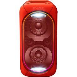 sony gtk-xb60 compact krachtig one box-geluidssysteem rood
