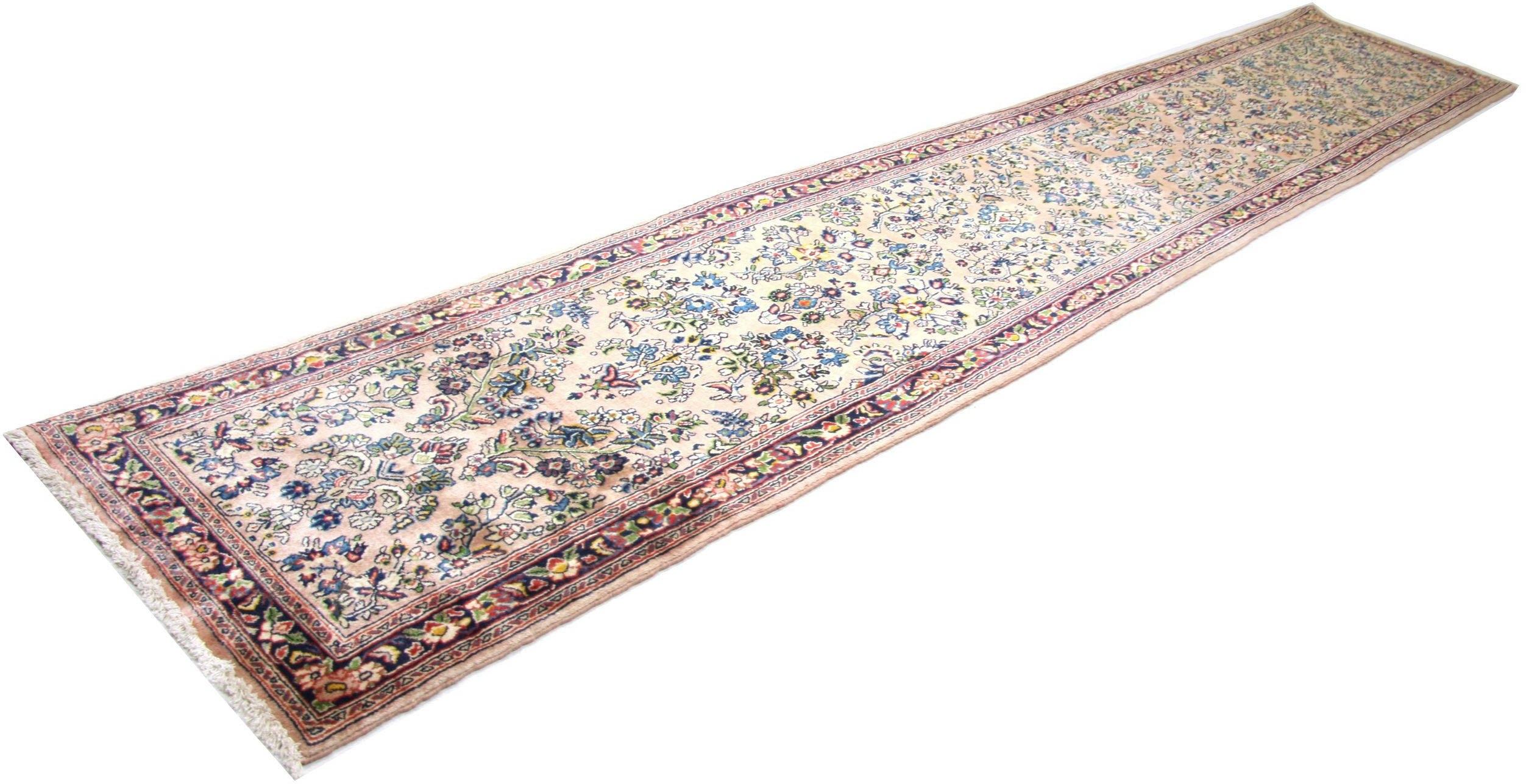 morgenland wollen kleed Sarough Teppich handgeknüpft rosa voordelig en veilig online kopen