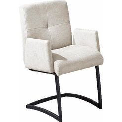 exxpo - sofa fashion vrijdragende stoel affogato met armleuning zilver