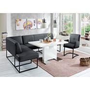 exxpo - sofa fashion hoekbank affogato vrij verstelbaar in de kamer zwart