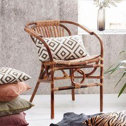sit rotan stoel »vintage« bruin