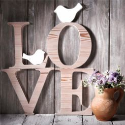 home affaire artprint op linnen »love sephia« bruin