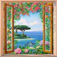 home affaire decoratief paneel »a.del missier - sulla costa mediterranea« multicolor