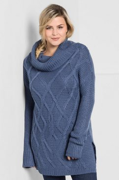 sheego casual coltrui blauw