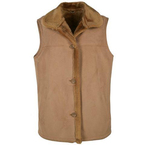 JCC mouwloos vest met zachte overhemdkraag Linda