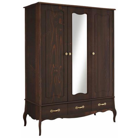 HOME AFFAIRE garderobekast Lebo, 2-, 3-, of 4-deurs, in 2 kleuren, in romantisch design