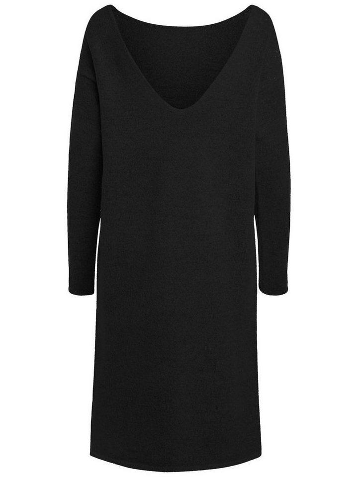 Pieces Lange gebreide jurk zwart