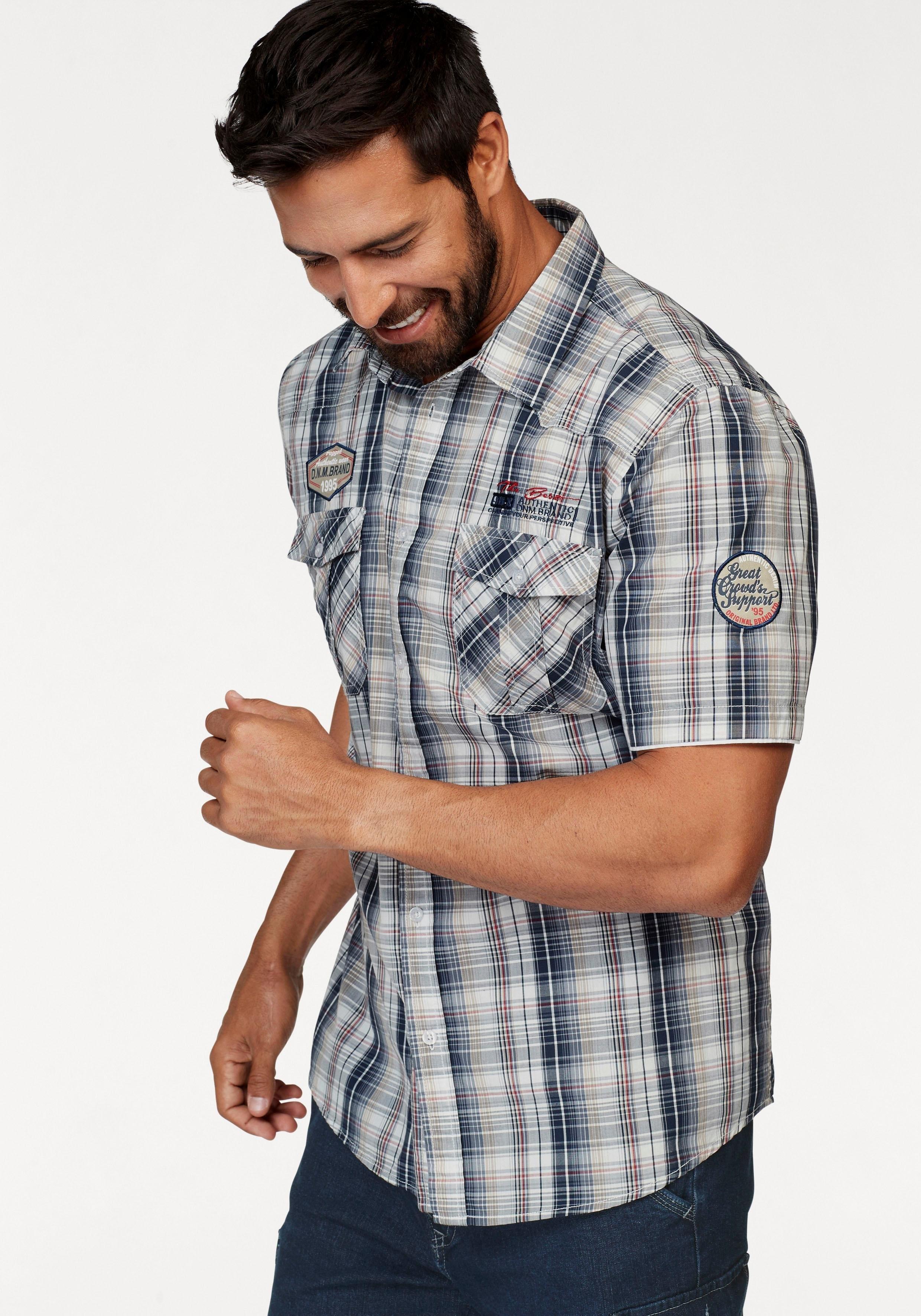 Korte Mouw Overhemd Mannen.Man S World Overhemd Met Korte Mouwen Online Bestellen Otto