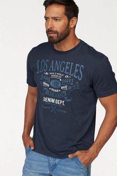 man's world t-shirt met een grote print blauw