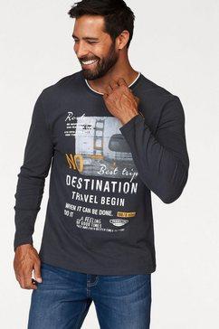 man's world shirt met lange mouwen met meerkleurige print blauw