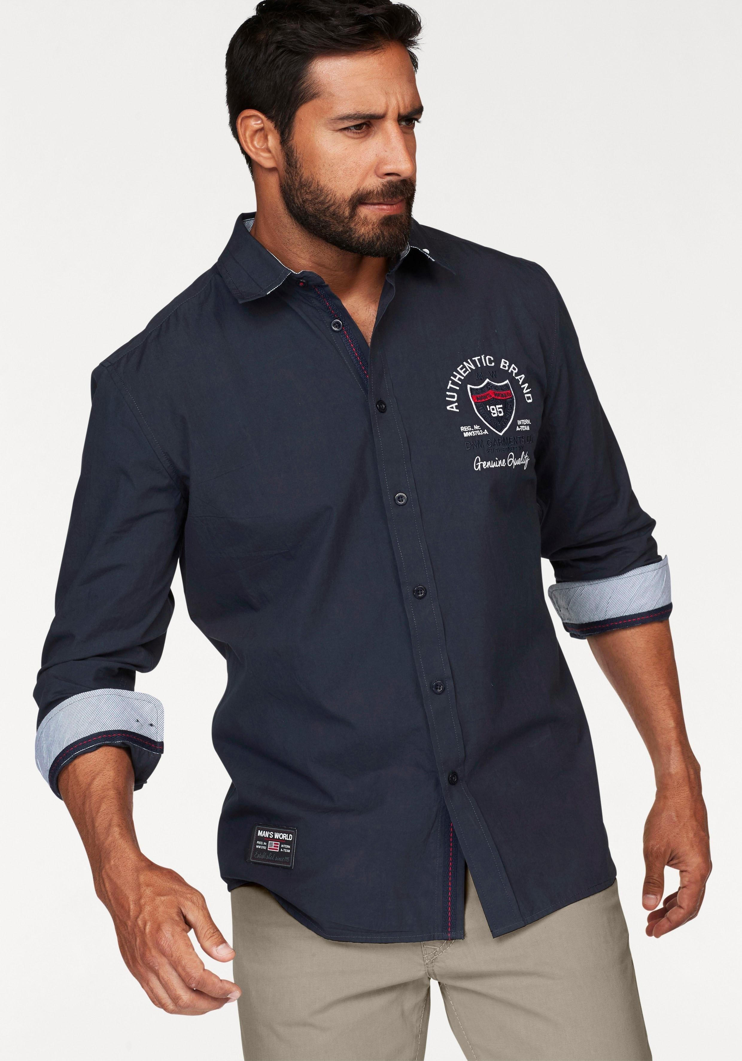 Man's World overhemd met lange mouwen goedkoop op otto.nl kopen