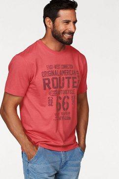 man's world t-shirt met print op borsthoogte rood