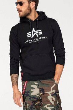 alpha industries capuchonsweatshirt »basic hoody« zwart