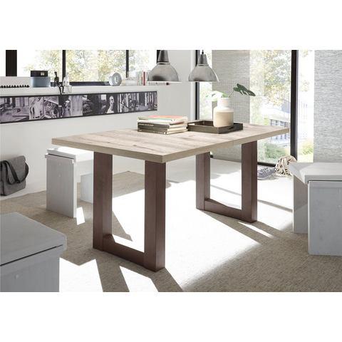 Eettafel met lade, breedte 160-210 cm