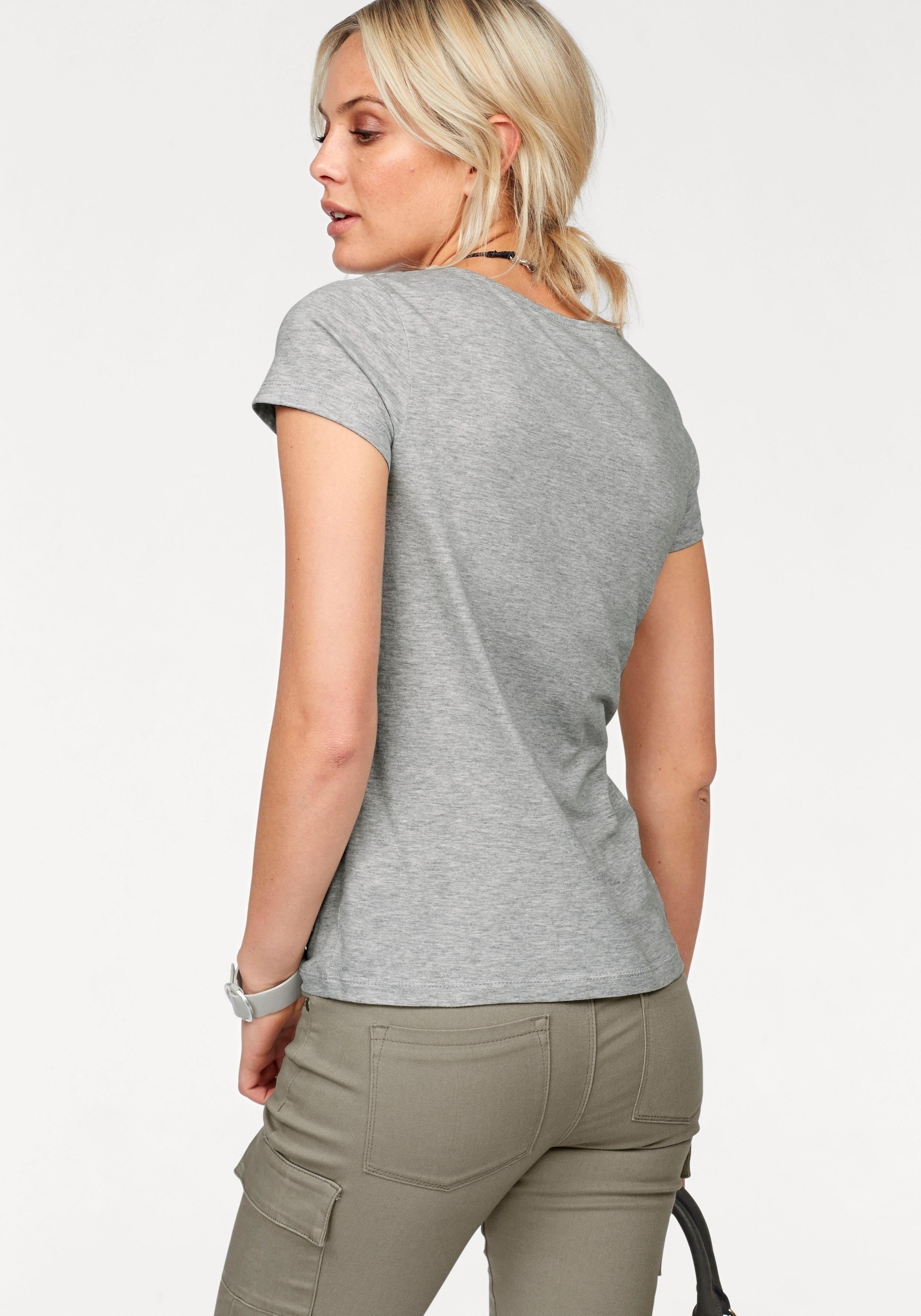 Denim print Arizona Bestellen shirtmet V Bij PXkuOiwZT