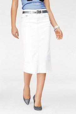 arizona jeansrok in trendy midi-model wit