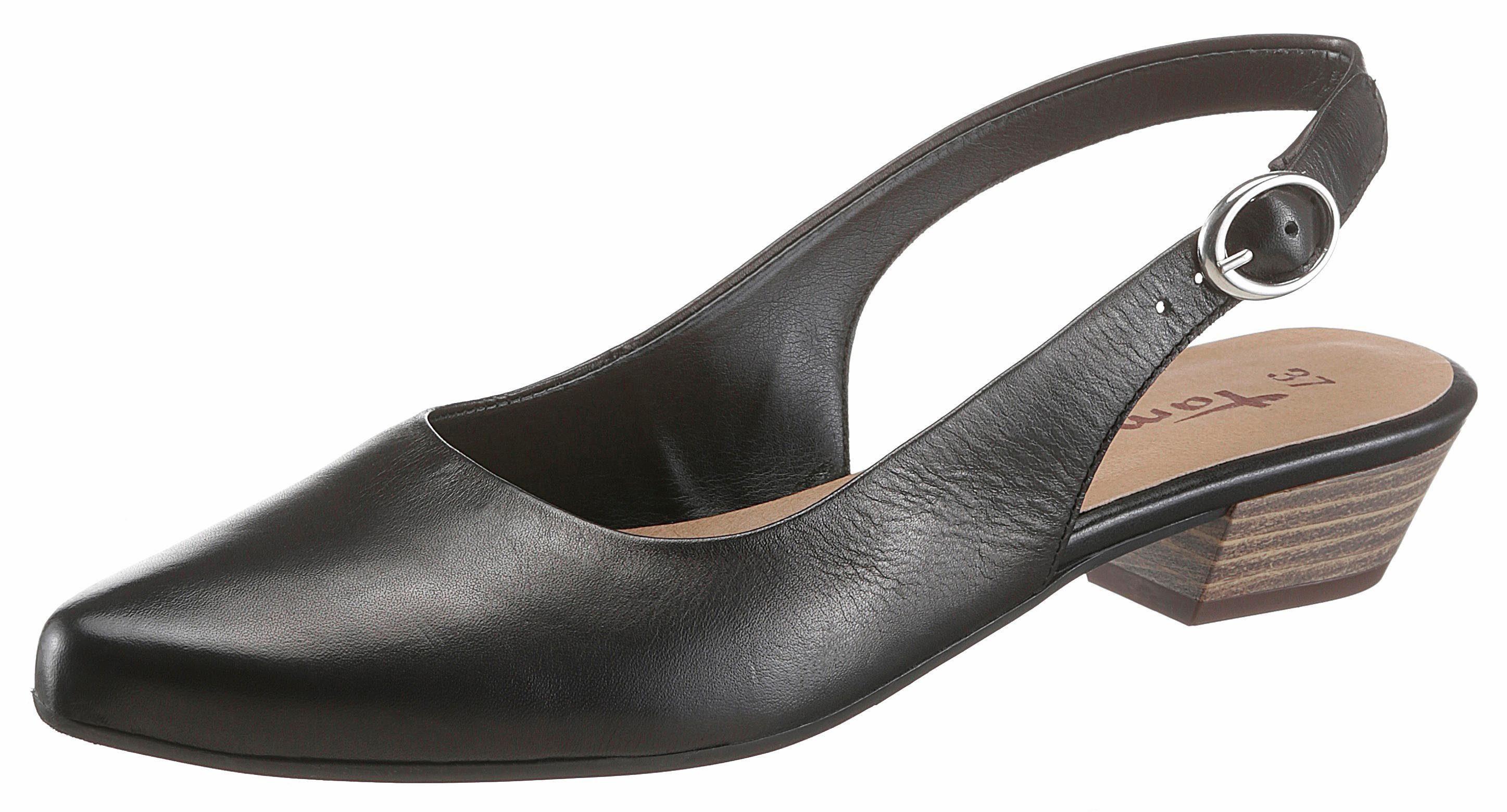 Tamaris Chaussures Noires À Talon Bloc Avec Boucle Pour Dames kRVzjOIE