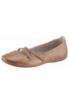 tamaris ballerina's van imitatieleer bruin