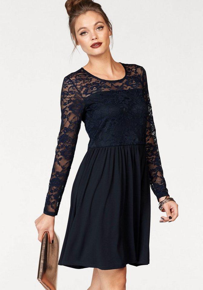 ONLY kanten jurk NEW INA blauw
