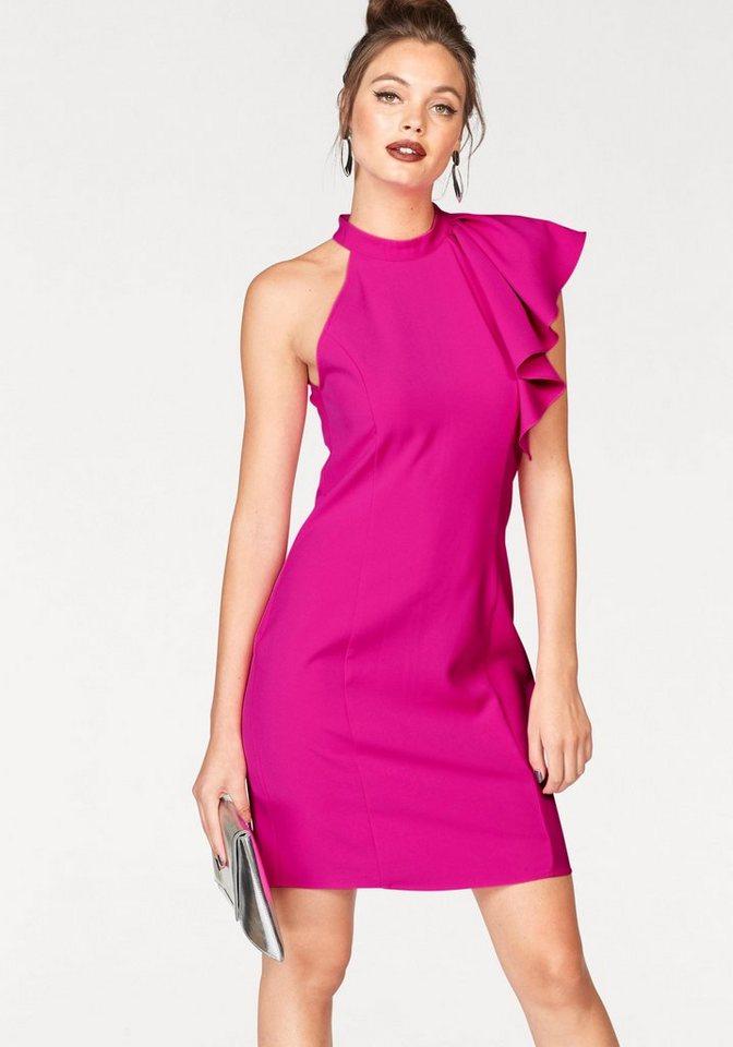 Vero Moda one-shoulderjurk JINKS roze