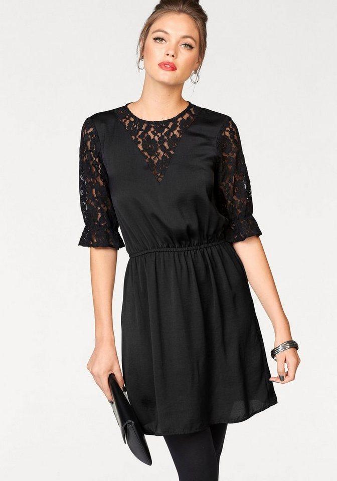 Vero Moda satijnen jurk DELIA zwart