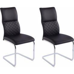 steinhoff vrijdragende stoel (set van 2) zwart