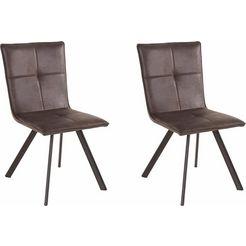stoel (set van 2) grijs