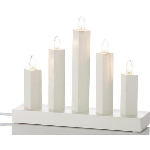 5-lichts kaarsenluchter RAK, wit