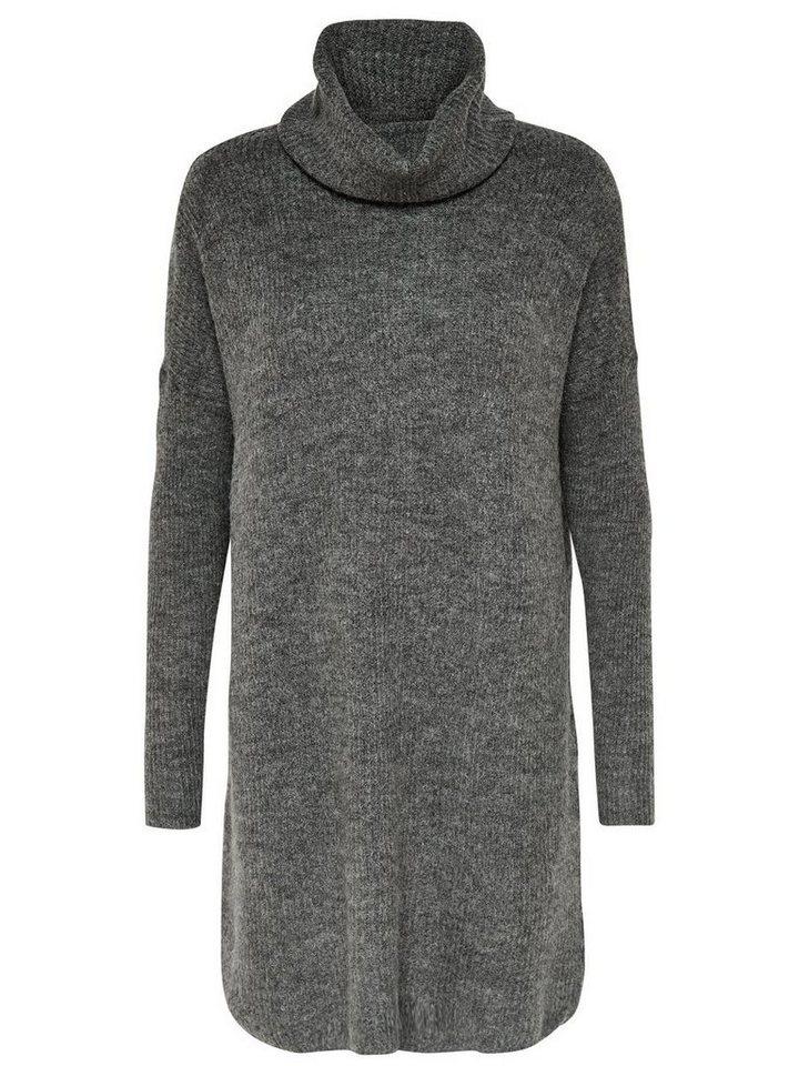 ONLY Lange gebreide jurk grijs