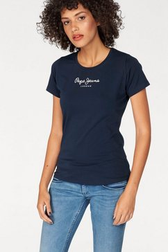 pepe jeans t-shirt »new virginia« blauw