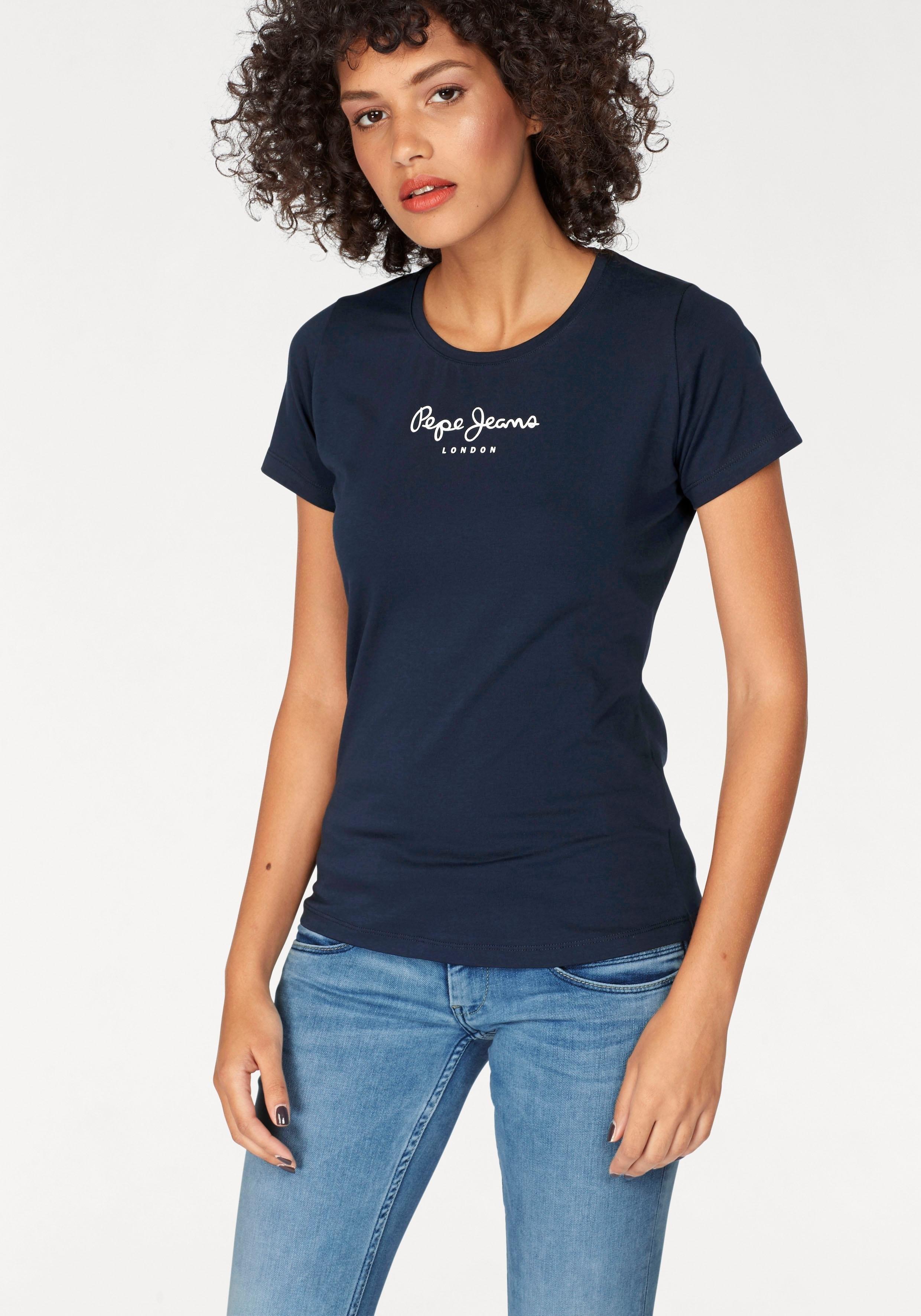 Pepe Jeans T-shirt NEW VIRGINIA met logoprint bij OTTO online kopen