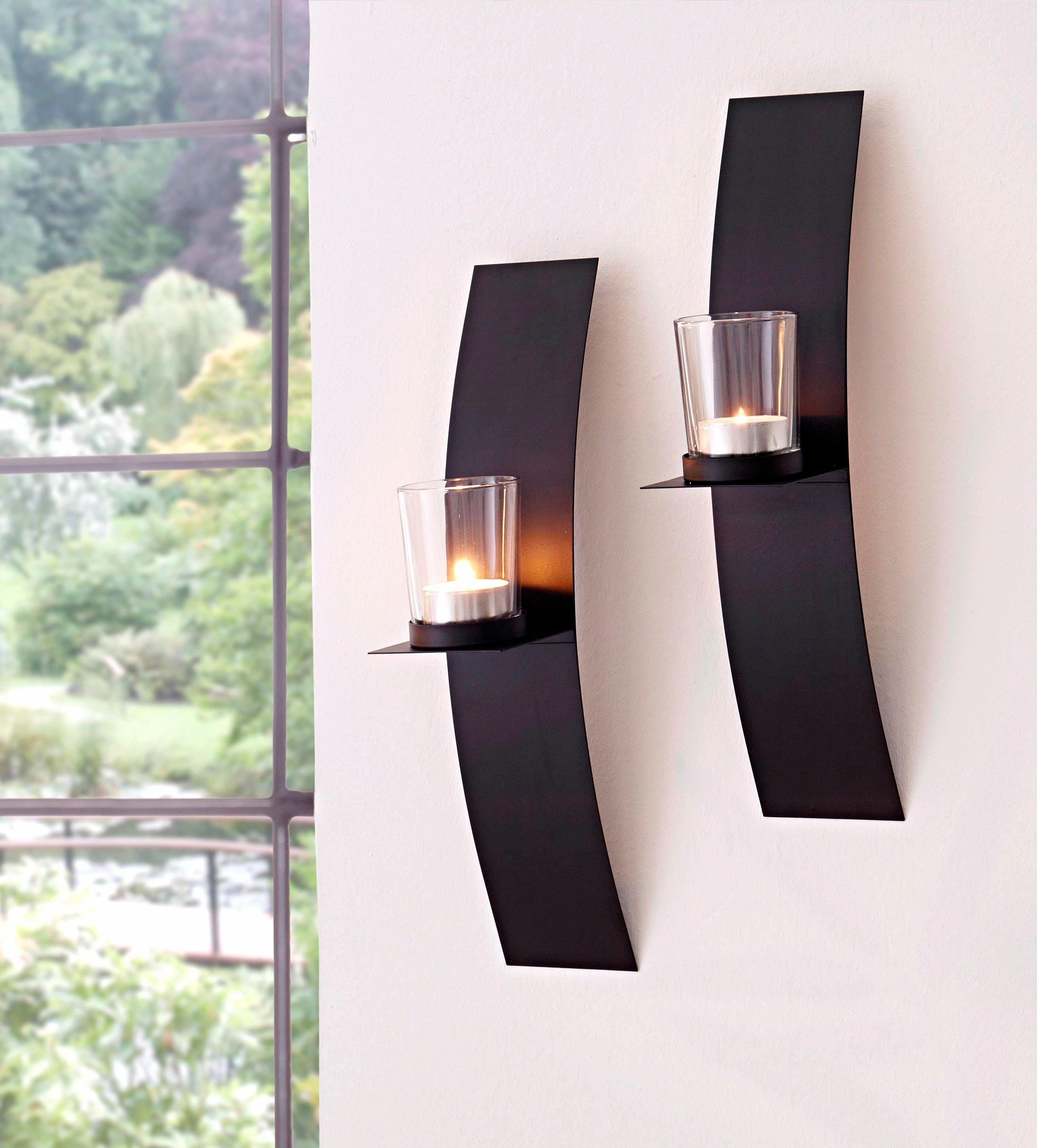 home affaire wandkaarsenhouder set van 2 makkelijk gekocht otto. Black Bedroom Furniture Sets. Home Design Ideas