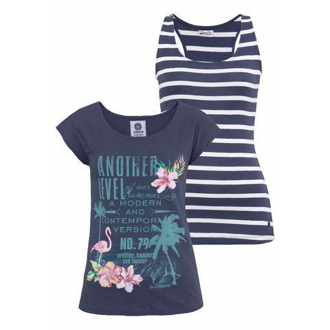 NU 15% KORTING: KANGAROOS T-shirt met top