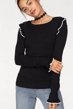 ajc trui met ronde hals zwart