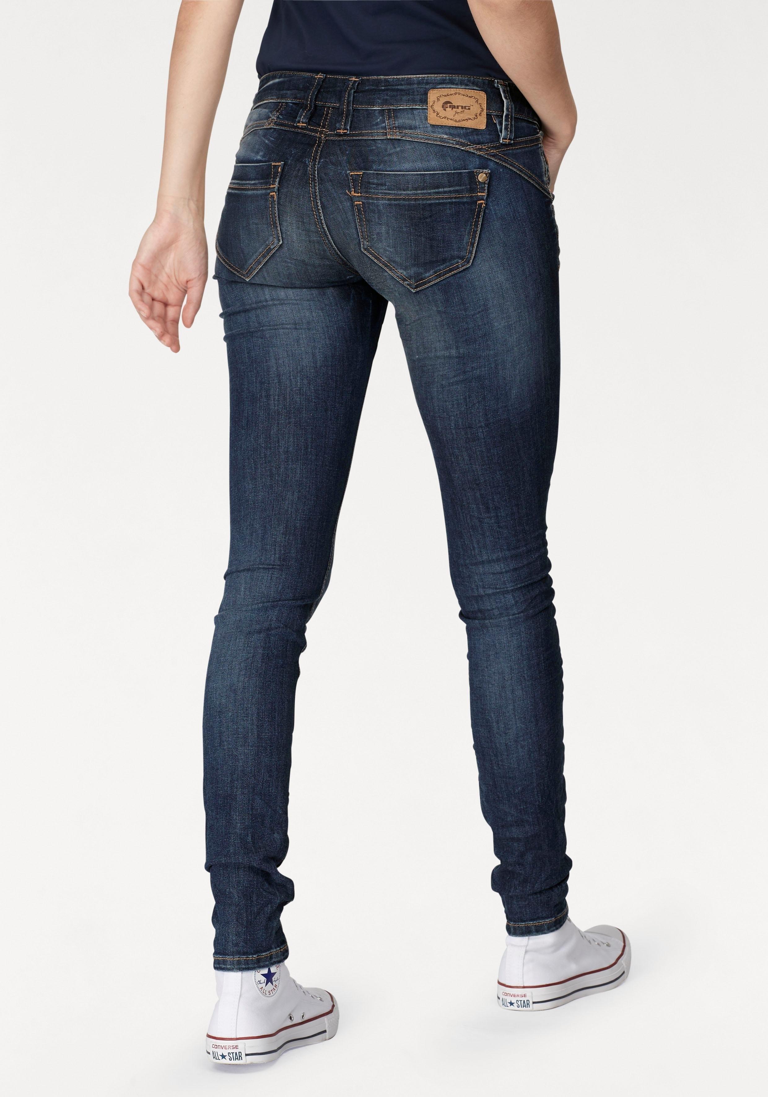 GANG skinny fit jeans Nena in crash-look bestellen: 30 dagen bedenktijd