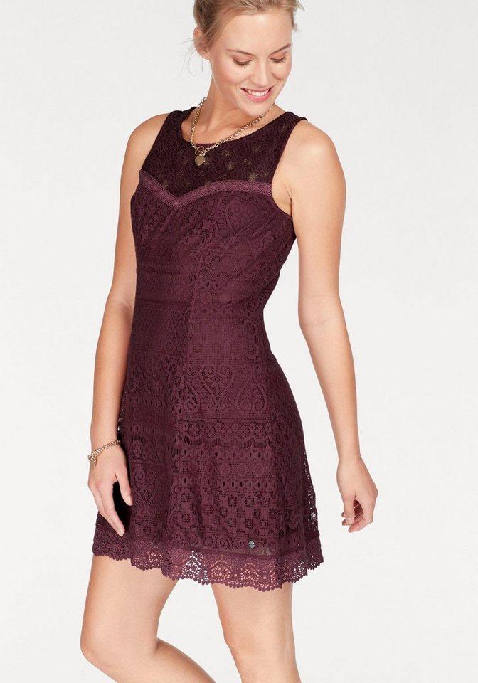 AJC kanten jurk rood