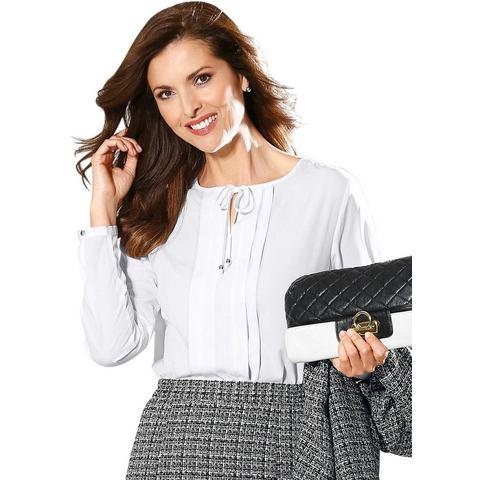 Classic NU 15% KORTING: Classic blouse met plooien voor