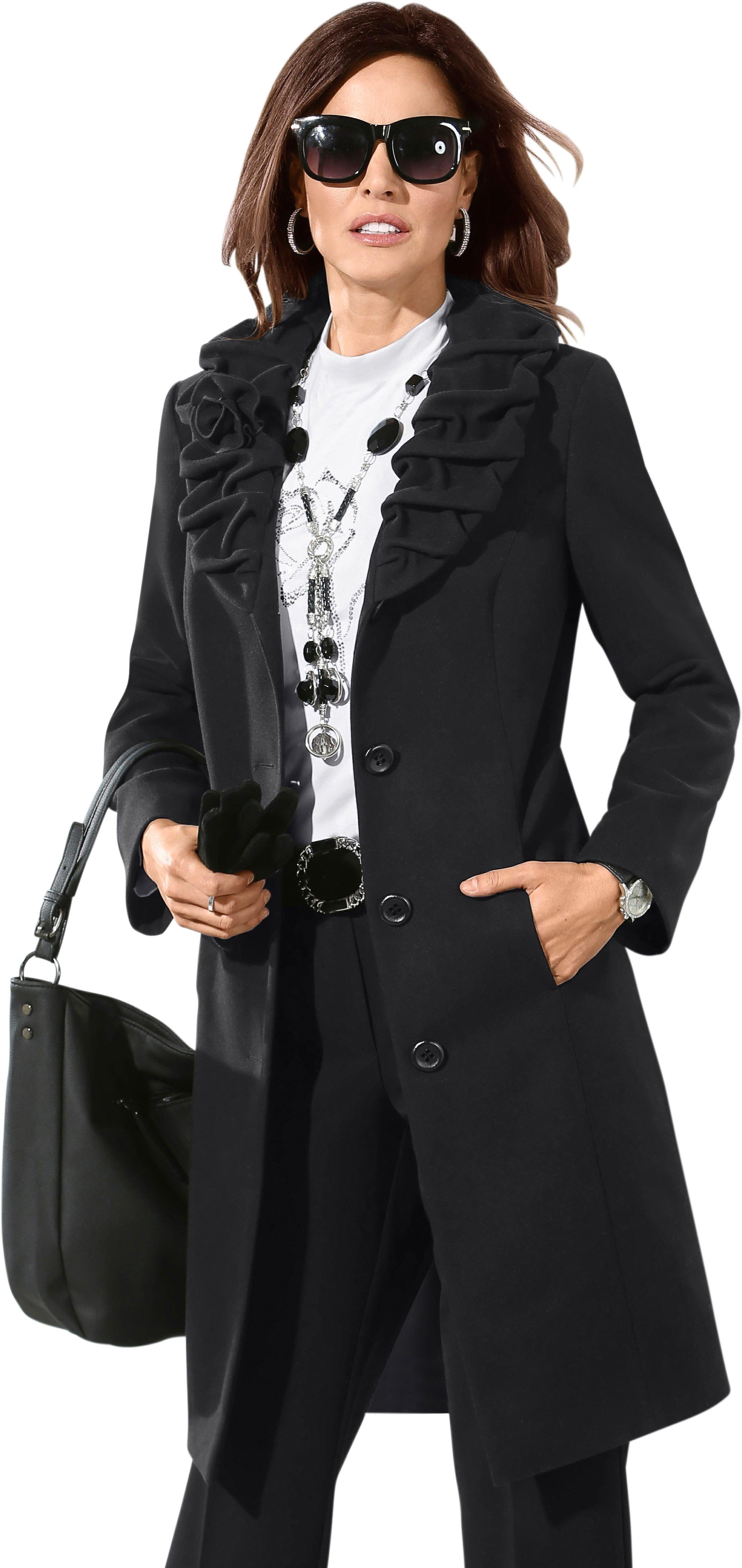 Lady jas met een afneembare bloemetjesbroche bestellen: 30 dagen bedenktijd