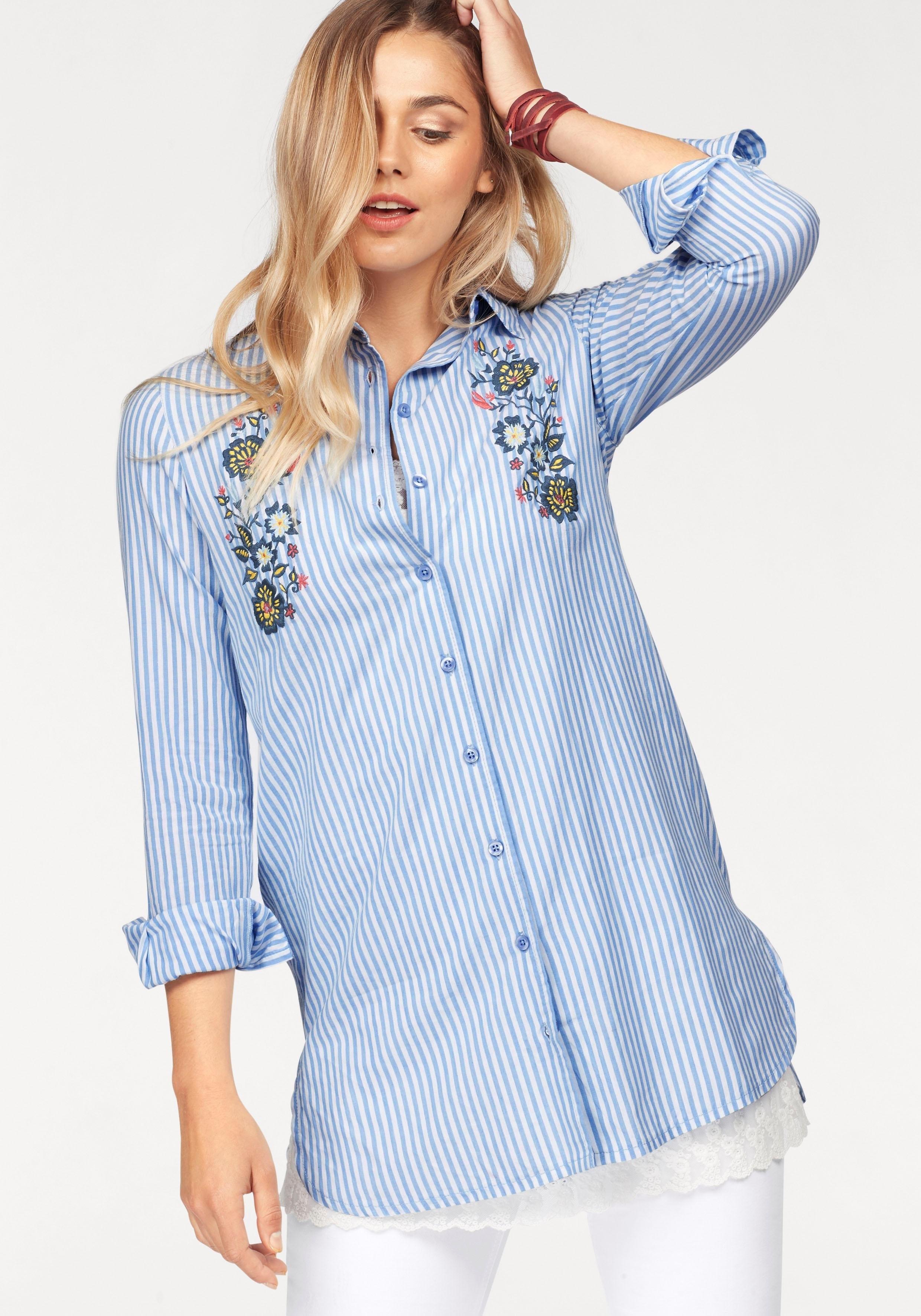 lange blouse blauw