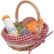 tanner boodschappenmand met speellevensmiddelen van hout, »picknickmand« multicolor