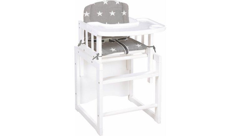 Houten Kinderstoel Met Blad.Combi Kinderstoel Met 3 Voudig Verstelbaar Eetblad Little Stars