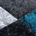 ayyildiz teppiche vloerkleed hawaï 1330 met de hand gesneden relifpatroon, woonkamer blauw