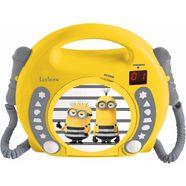 lexibook cd-speler met 2 microfoons, »minions« geel