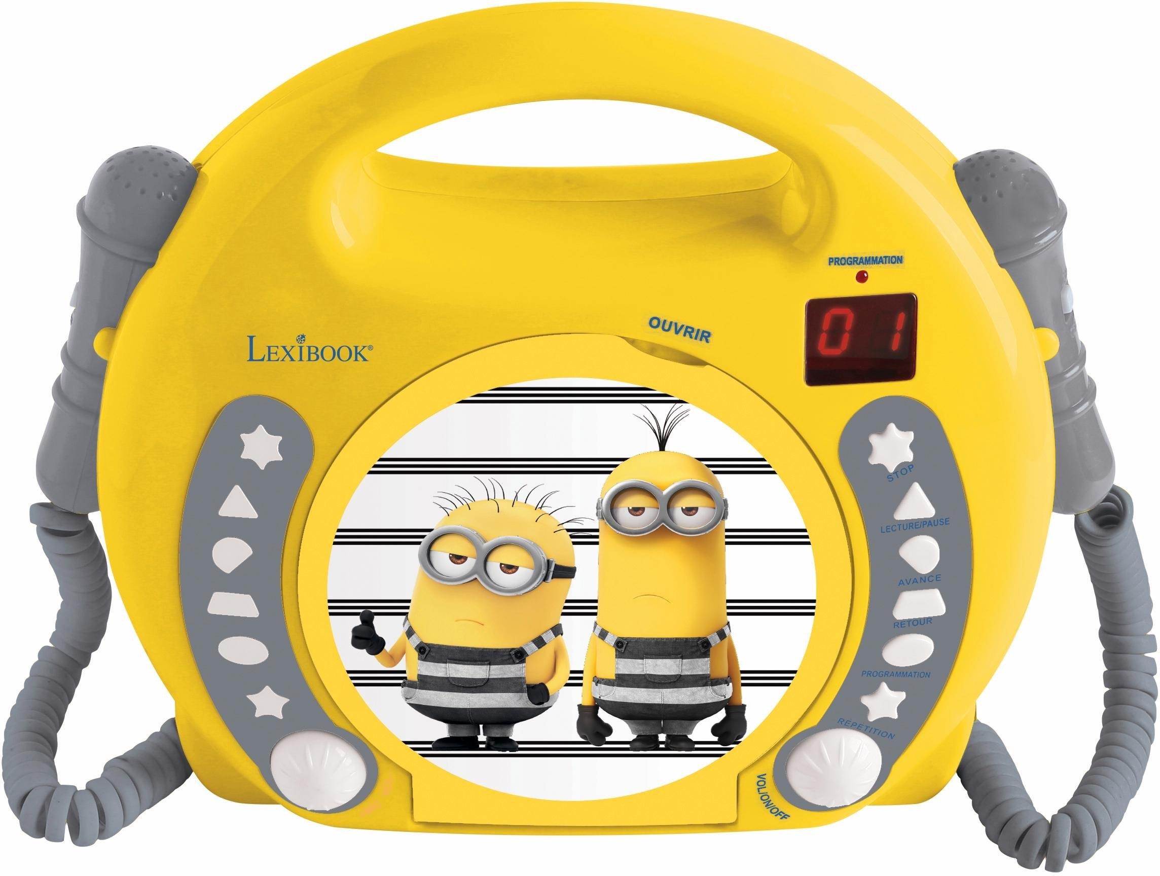Lexibook cd-speler met 2 microfoons, »Minions« bestellen: 14 dagen bedenktijd