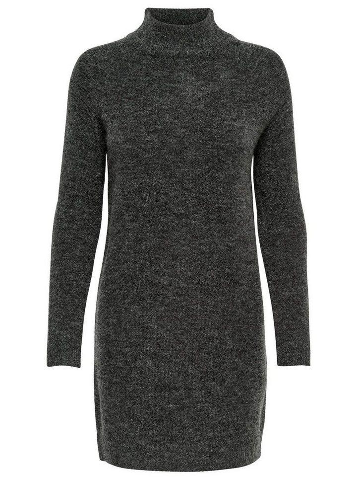 ONLY High-neck gebreide jurk grijs