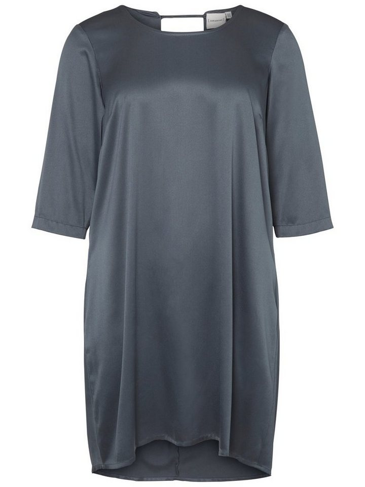 Junarose Geweven jurk grijs